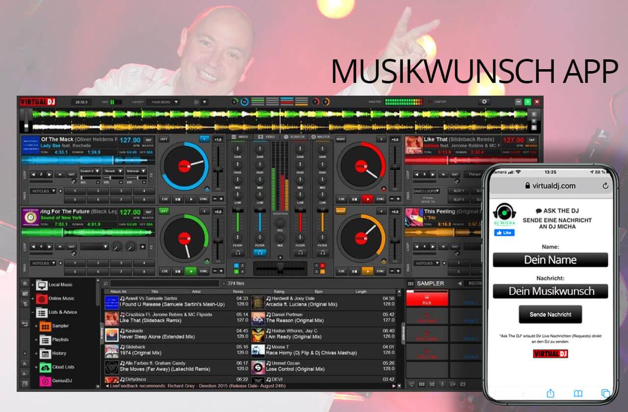 musikwunsch app wunschlieder app musikwünscher per app bestelln dj hannover dj Micha